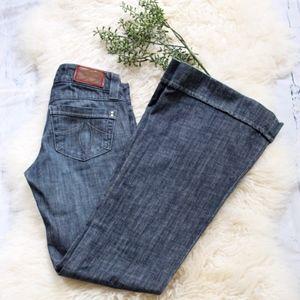 Anthropolgie Level 99 Wide Leg Jeans Dark Wash